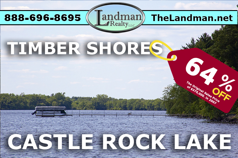 Castle Rock Lake Waterfront Lot For Sale - Building Site