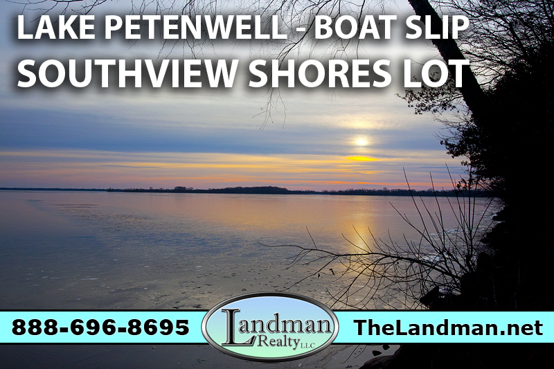 Petenwell Lake Access Lot for Sale with Boat Slip